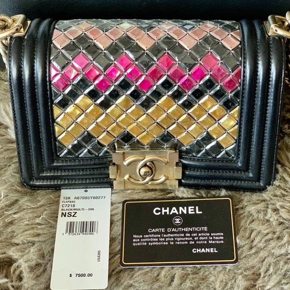 658d83aab059 CHANEL Bags | Tile Brasserie Mosaic Boy Bag Lambskim | Poshmark